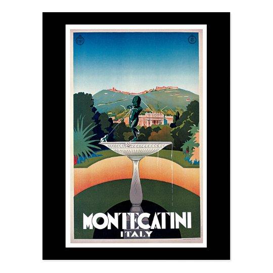 Montecatini, Italy Vintage Travel Poster Postcard