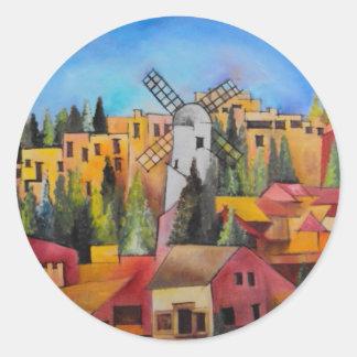 Montefiore Windmill Classic Round Sticker