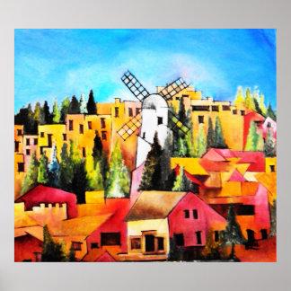 Montefiore Windmill Print
