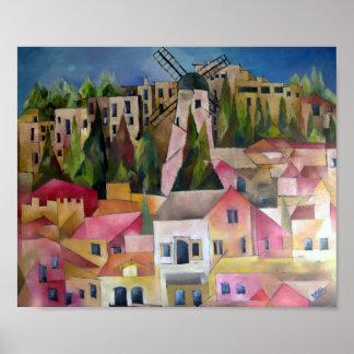 Montefiori windmill poster