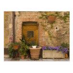 Montefollonico, Val d'Orcia, Siena province, 2 Postcards