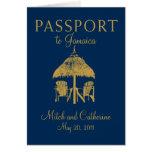 Montego Bay Jamaica Passport Wedding Invitation