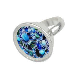 Montego Blues Mosaic Photo Ring