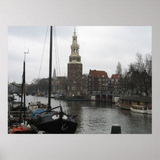 Montelbaanstoren (Montelbaan Tower) Amsterdam Art Poster