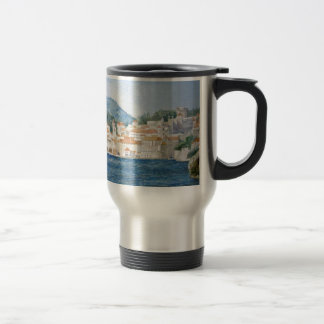 Montenegro Budva watercolor landscape panorama Travel Mug