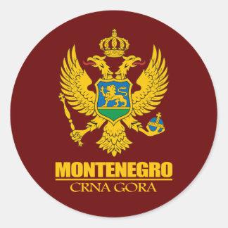 Montenegro COA Round Sticker
