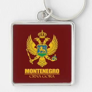 Montenegro COA Silver-Colored Square Key Ring