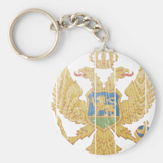 Montenegro Coat Of Arms Basic Round Button Key Ring