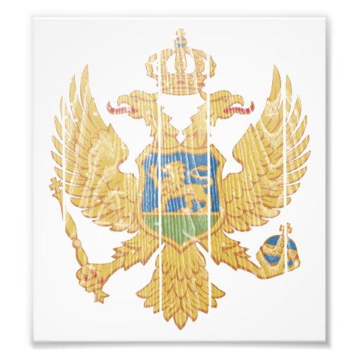 Montenegro Coat Of Arms Photographic Print