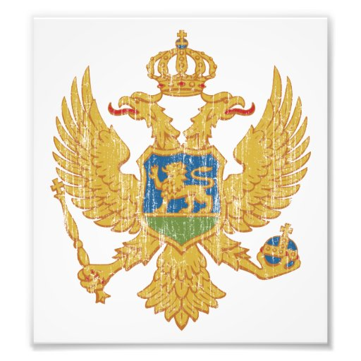 Montenegro Coat Of Arms Photo Art