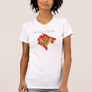 montenegro country flag map shape symbol T-Shirt