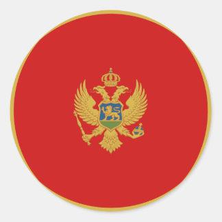 Montenegro Fisheye Flag Sticker