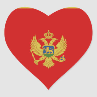 Montenegro Flag Heart Sticker