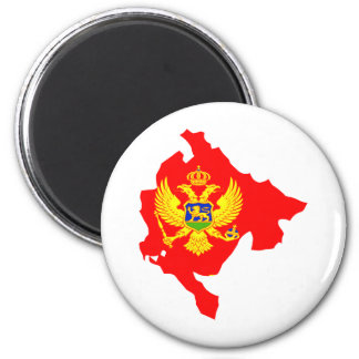Montenegro Flag Map full size Magnet