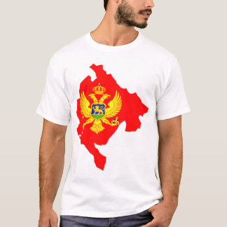 Montenegro flag map T-Shirt