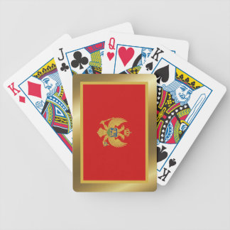 Montenegro Flag Playing Cards