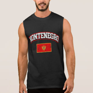 Montenegro Flag Sleeveless Shirt