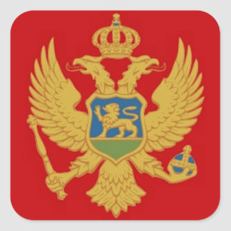 Montenegro Flag Square Sticker