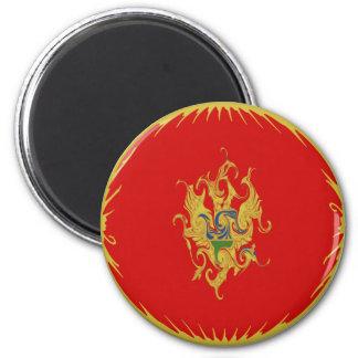 Montenegro Gnarly Flag 6 Cm Round Magnet