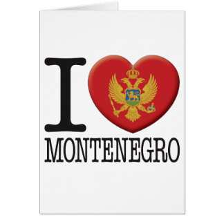 Montenegro Greeting Card