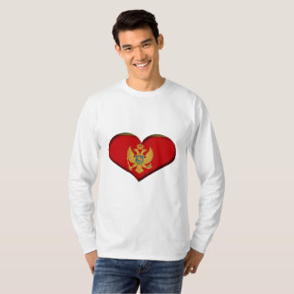 Montenegro Heart Flag T-Shirt