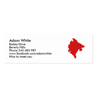 Montenegro map pack of skinny business cards