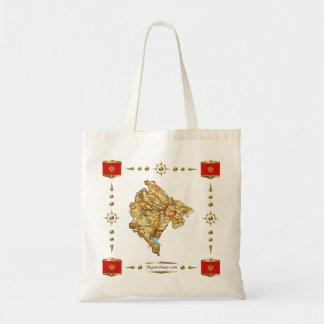 Montenegro Map + Flags Bag