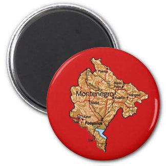 Montenegro Map Magnet
