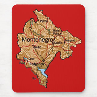 Montenegro Map Mousepad
