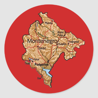 Montenegro Map Sticker