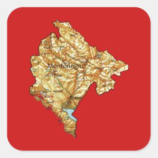 Montenegro Map Sticker