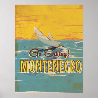 Montenegro vintage travel poster