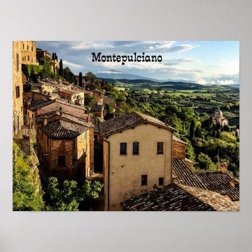 Montepulciano, Toscana, Italy Poster