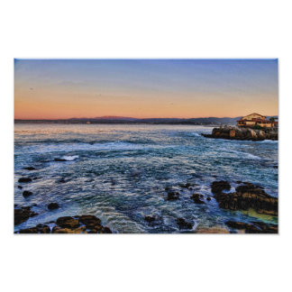 Monterey Bay at Twilight Print