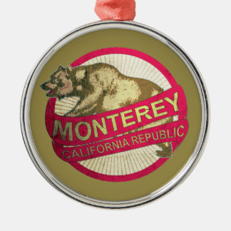 Monterey California bear holiday ornament