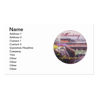 Monterey Fishermans Wharf Scenic California Coast Pack Of Standard Business Cards