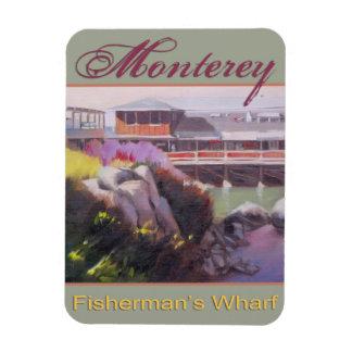 Monterey Fishermans Wharf Scenic California Coast Rectangular Photo Magnet