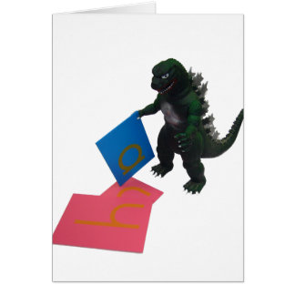 Montessaurus & Sand Paper Letters Note Card