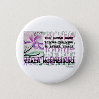 Montessori Iris 6 Cm Round Badge