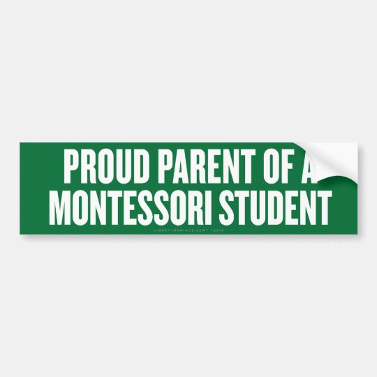 Montessori Parent Bumper Sticker