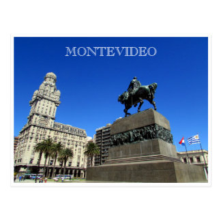 montevideo plaza independencia postcard