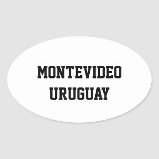 Montevideo Uruguay oval stickers