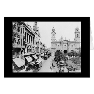 Montevideo, Uruguay Street Scene 1906 Card