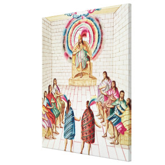 Montezuma II and his Council Canvas Print