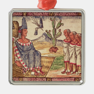 Montezuma II  and his envoys  Spanish Christmas Ornament