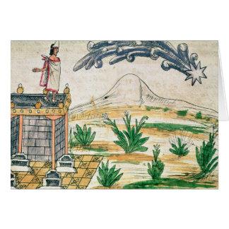 Montezuma II  watching a comet, 1579 Card