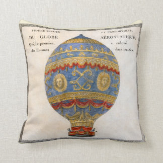 Montgolfier Brothers Hot Air Balloon Cushion