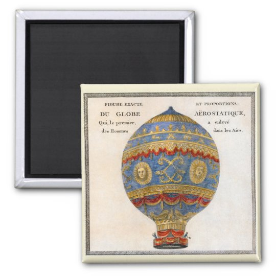 Montgolfier Brothers Hot Air Balloon Square Magnet