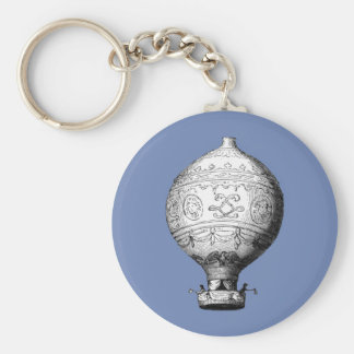 Montgolfier Vintage Hot Air Balloon Key Ring