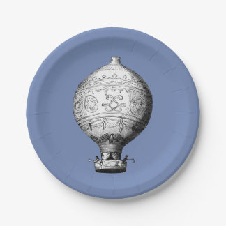 Montgolfier Vintage Hot Air Balloon Paper Plate
